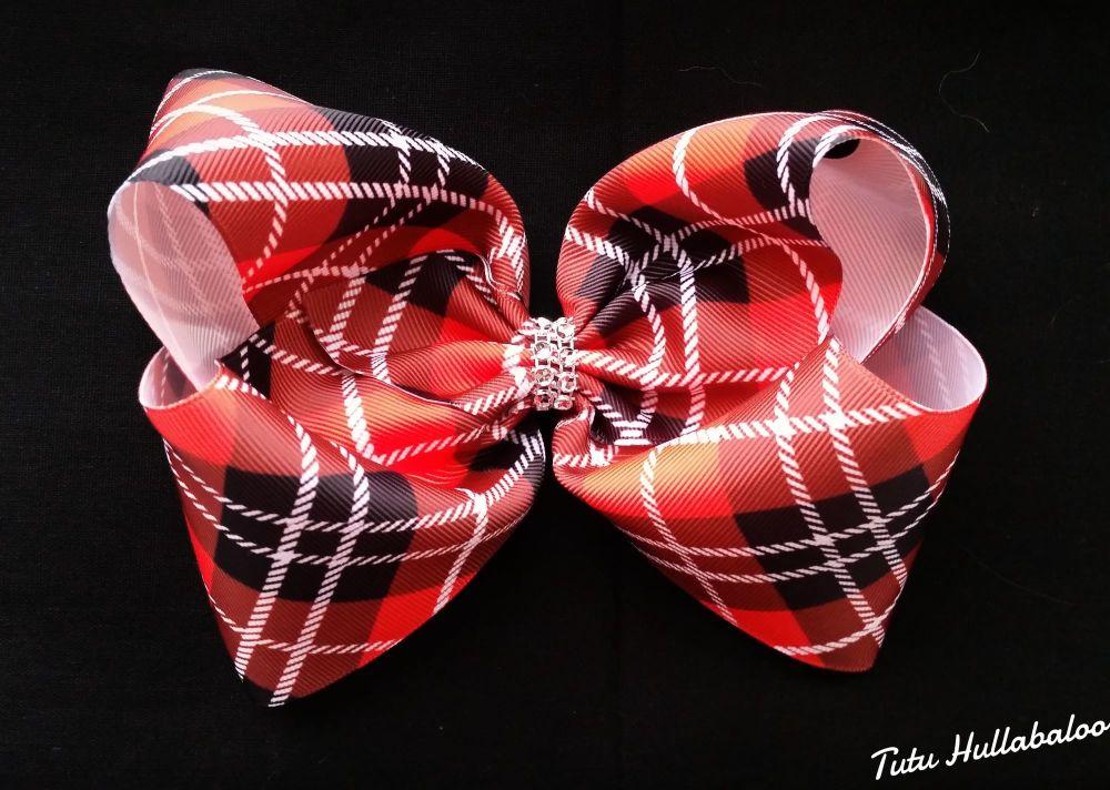 Red Tartan Mega Bow