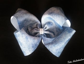 Denim Mega Bow