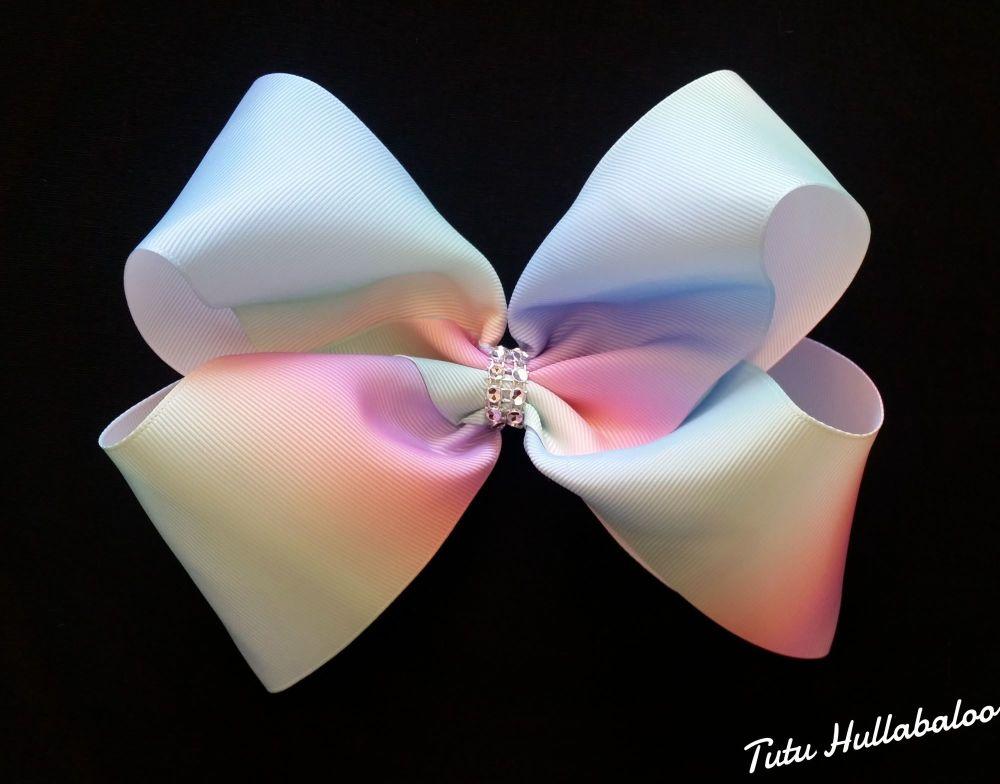 Pastel Rainbow Mega Bow