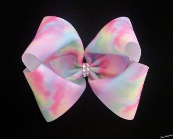 Pastel Tie Dye Mega Bow