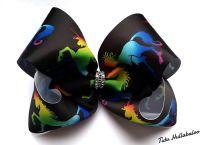 Rainbow Unicorn Black Mega Bow