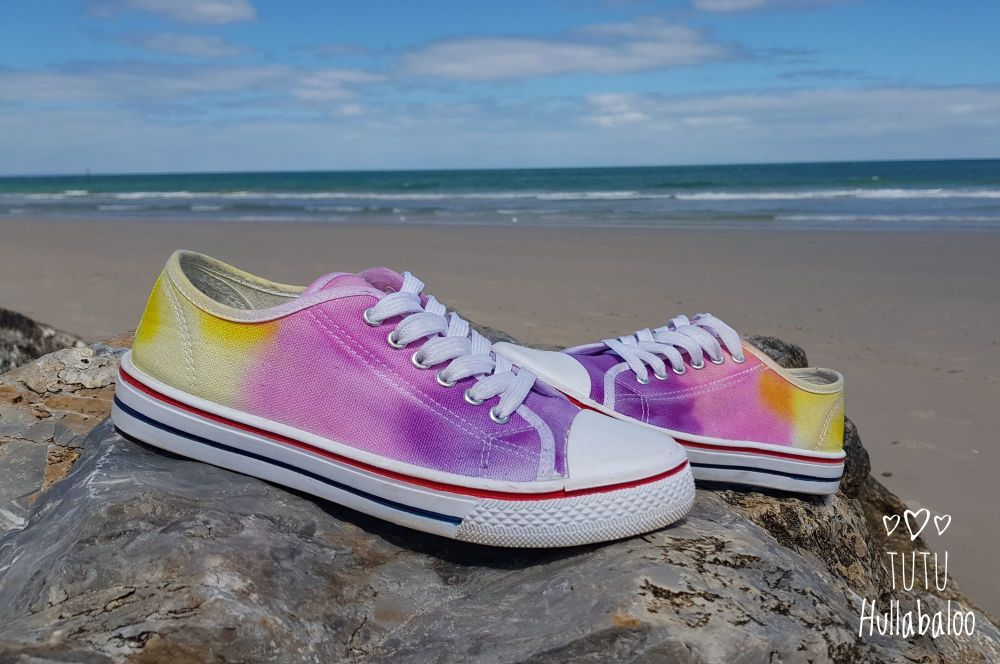 Purple, Pink, Yellow Shoes