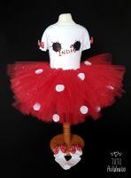 Spotty Tutu Red - Child