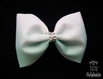 Ombre Mint Tux Bow