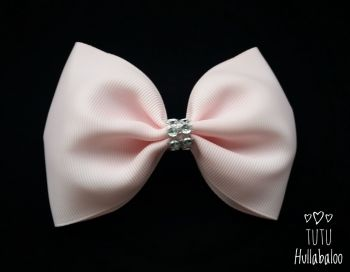 Plain Peach Tux Bow