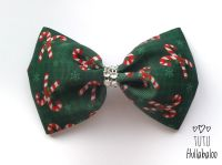 Candy Cane Tux Bow Red/Green