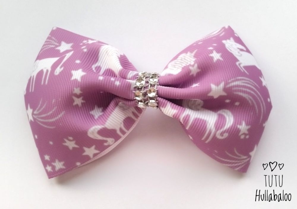 Unicorn Tux Bow Purple