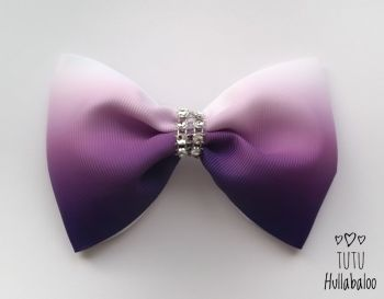 Ombre Purple Tux Bow