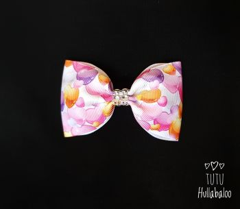 Girly Hearts Tux Bow