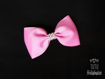 Plain Rose Bloom Tux Bow
