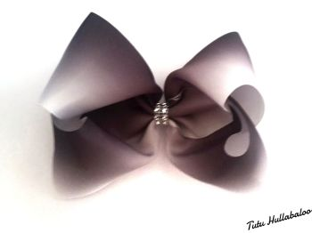 Ombre Black/White Mega Bow