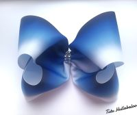 Ombre Navy/Blue/White Mega Bow
