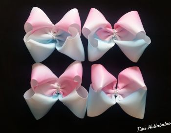 Ombre Pink/Blue Mega Bow