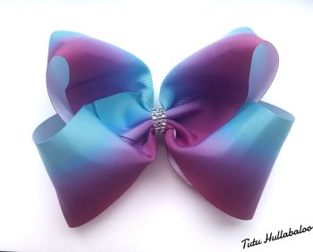 Ombre Purple/Blue Mega Bow