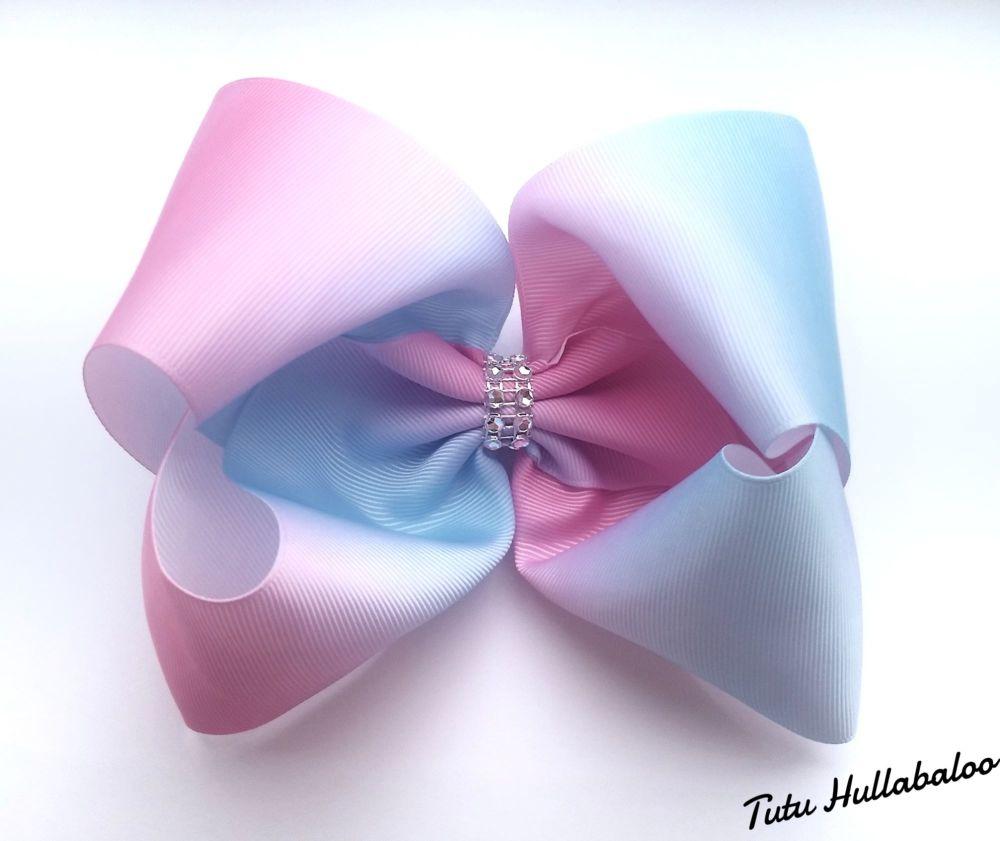 Ombre Mega Bow Pink/Blue
