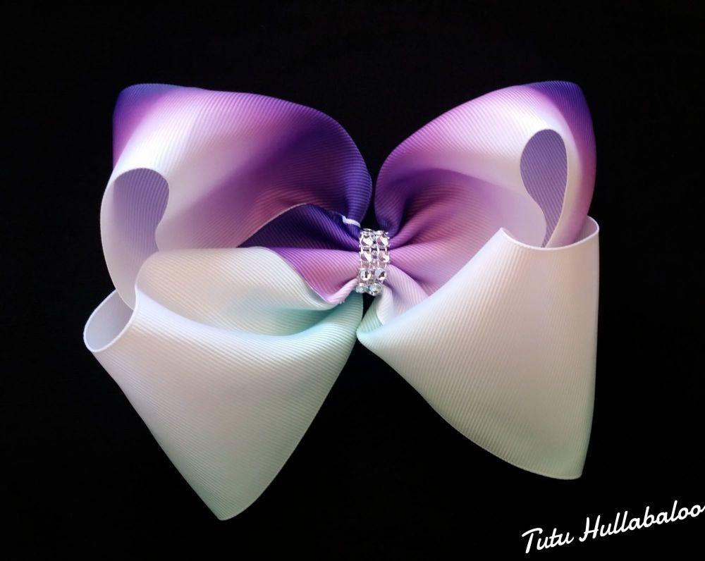 Ombre Mega Bow Purple/Mint