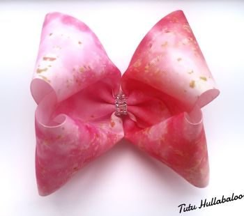 Pink/Gold Mega Bow