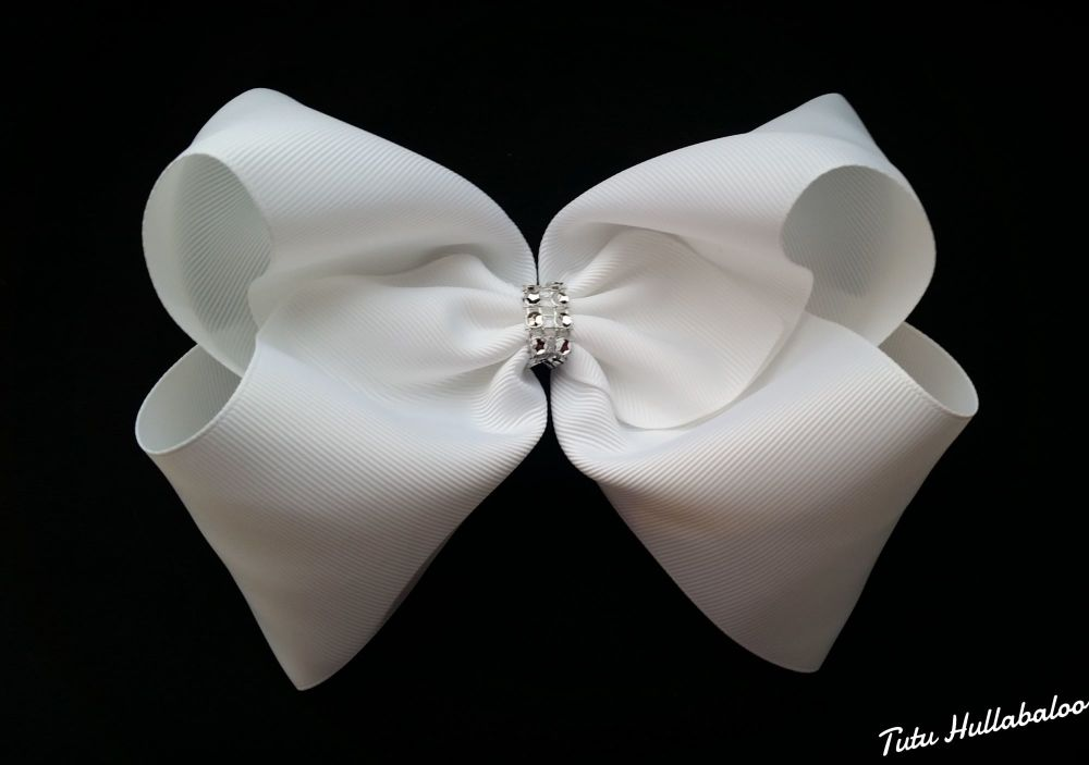 Plain Mega Bow White