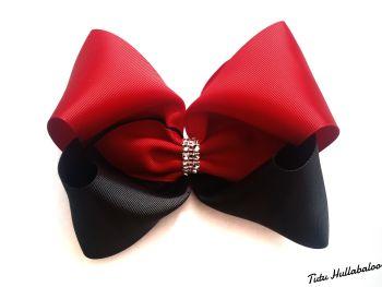 Plain Red/Black Mega Bow