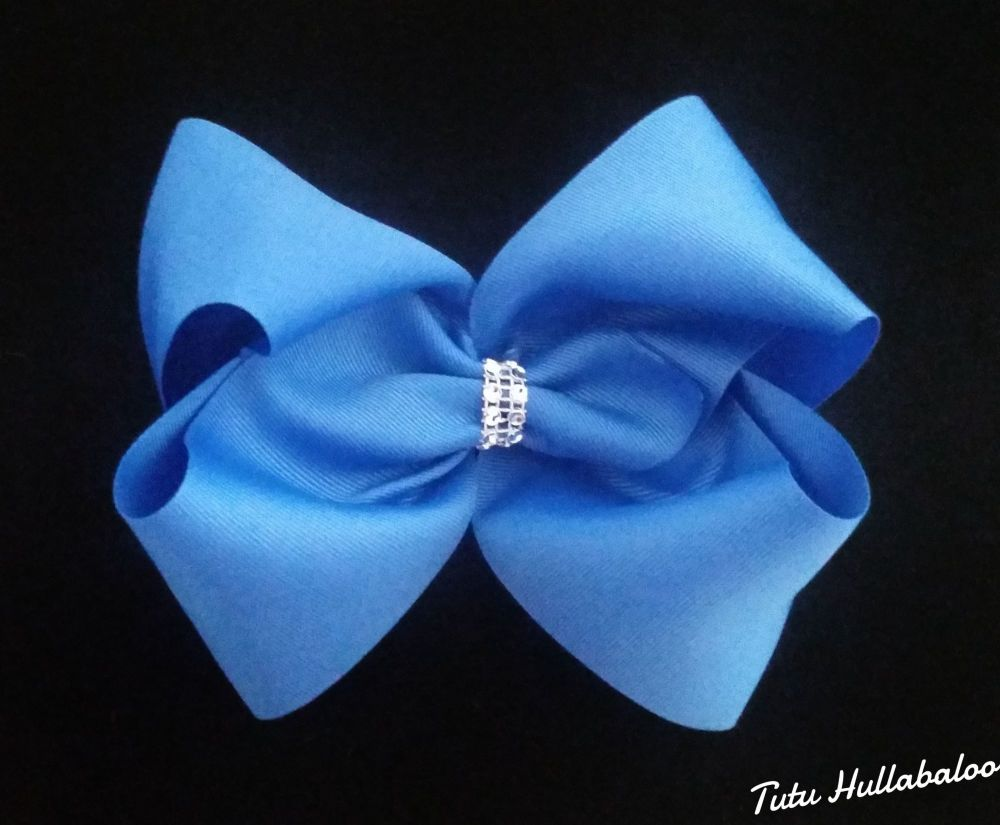 Plain Mega Bow Blue