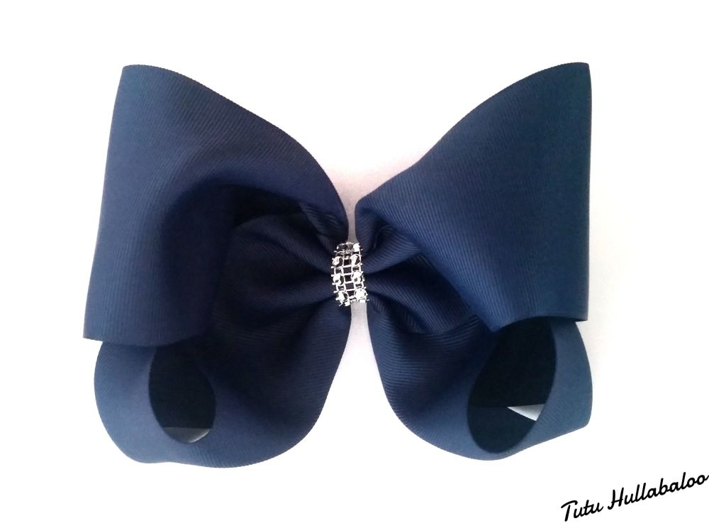 Plain Mega Bow Navy
