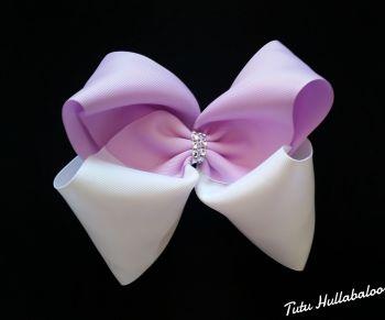 Plain Lilac/White Mega Bow