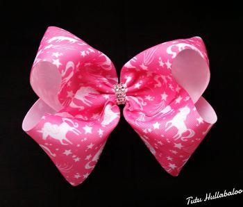 Unicorn Pink Mega Bow