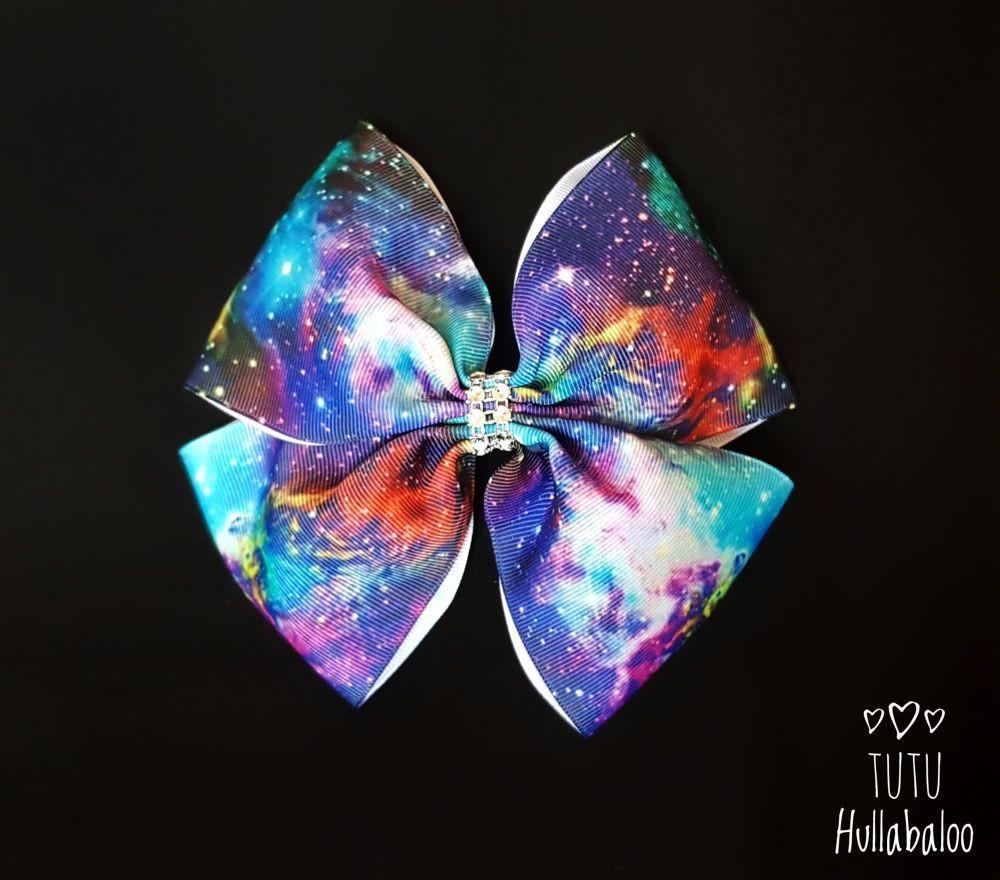 Night Galaxy Double Tux Bow