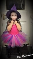 Witch Dress Pink/Purple/Silver