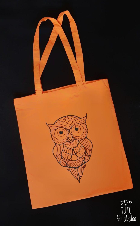 Tote Bag Zentangle Owl