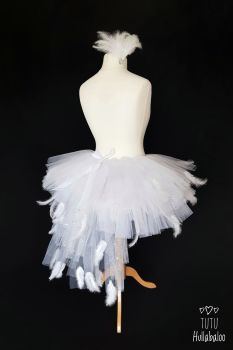 Swan Feathered Tutu White - Adult