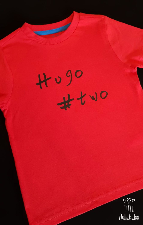 Personalised Hashtag Vest/Tshirt