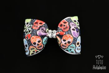 Colourful Skull Tux Bow