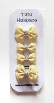 Pinstripe Lemon Double Tux Bow