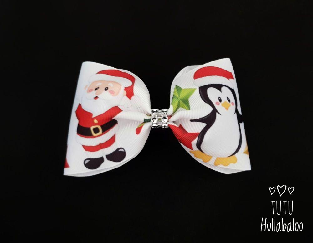 Santa Penguin Tux Bow