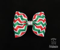 Zig-zag Red/Green Tux Bow