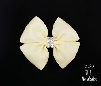 Plain Baby Maize Double Tux Bow