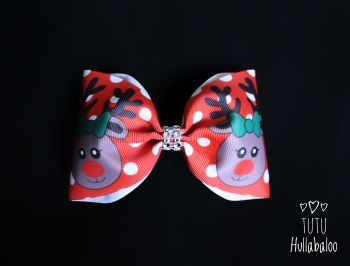 Red Reindeer Tux Bow