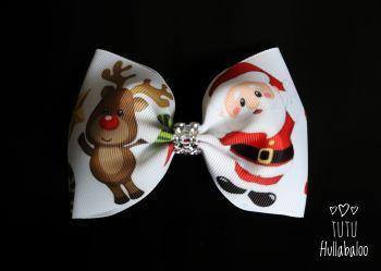 Santa Rudolph Tux Bow