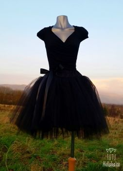 Short Tulle Skirt - Black - Adult