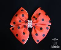 Dotty Red/Black Double Tux Bow