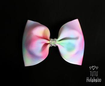 Pastel Tie Dye Tux Bow
