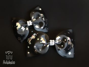Laser Unicorns Black Tux Bow