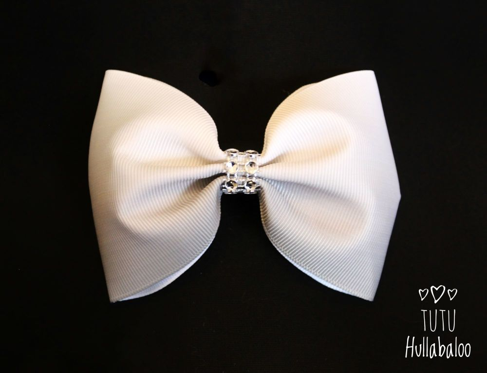 Ombre Grey Tux Bow