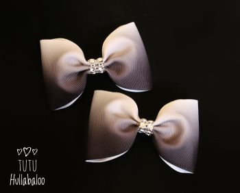 Ombre Black Tux Bow