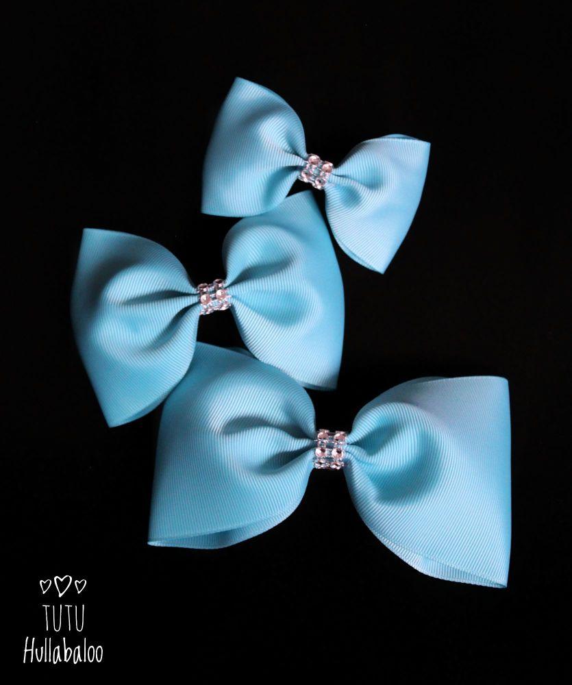 Plain Misty Turquoise Tux Bow