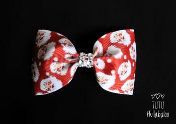 Red Santa Tux Bow