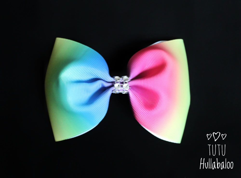 Vertical Rainbow Ombre Tux Bow