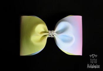 Ombre Rainbow Tux Bow