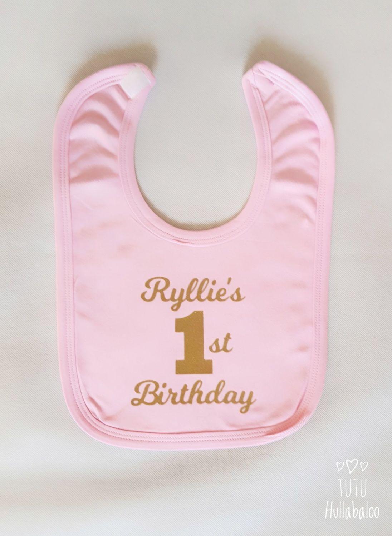First Birthday Bib